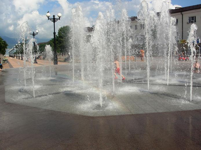 Фонтан в городе Новороссийск