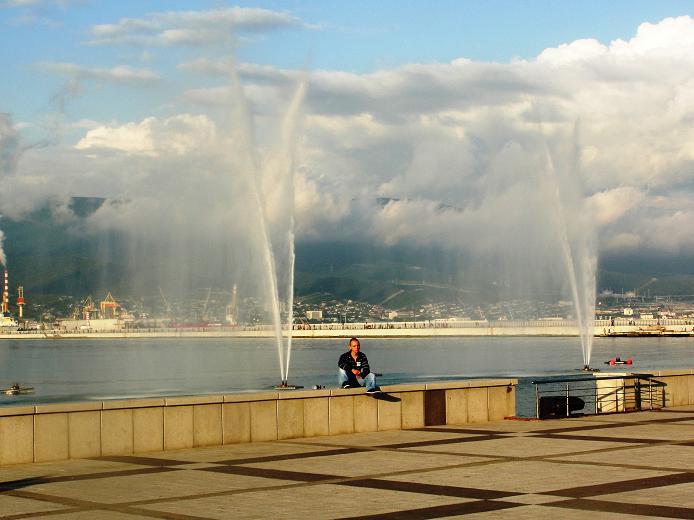 Отдых у фонтана