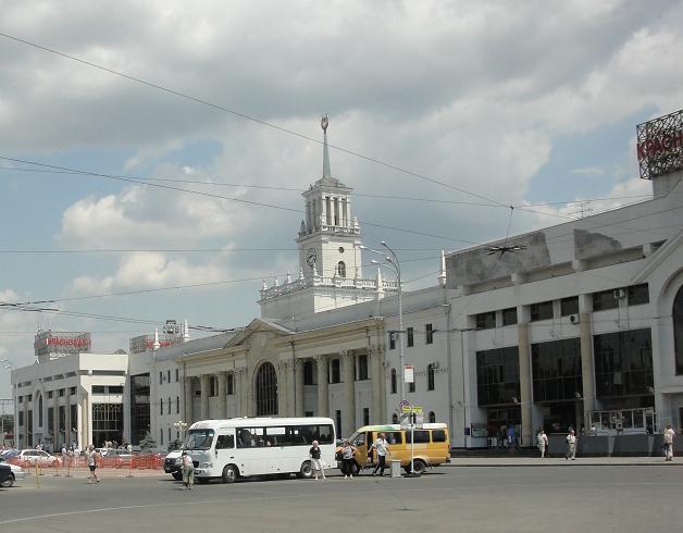 Железнодорожный вокзал в Краснодаре