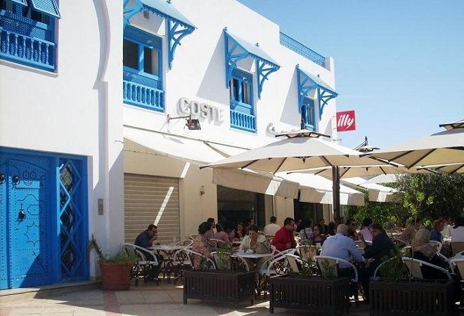 Достопримечательность Туниса голубой город Сиди-Бу-Саид