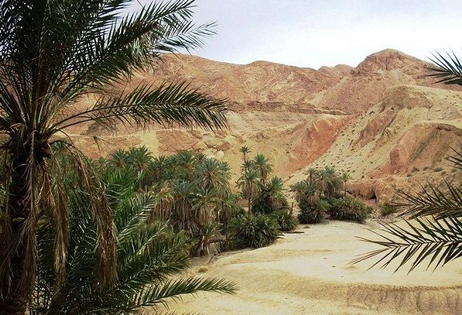 Пустыня Сахара перегрета солнцем